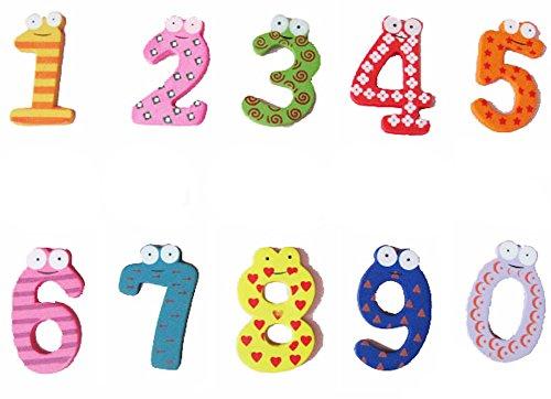 [해외]DCMA 문구 번호 마그넷 1-0 숫자 자석 10 개 세트 / DCMA Stationery Number Magnet 1-0 numeric magnet 10 pieces