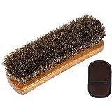 【osharemart】 靴磨き ブラシ 馬毛ブラシ と ムートン グローブクロス の セット