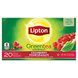Lipton Green Tea Bags, Cranberry Pomegranate 20 ct, Pack of 6