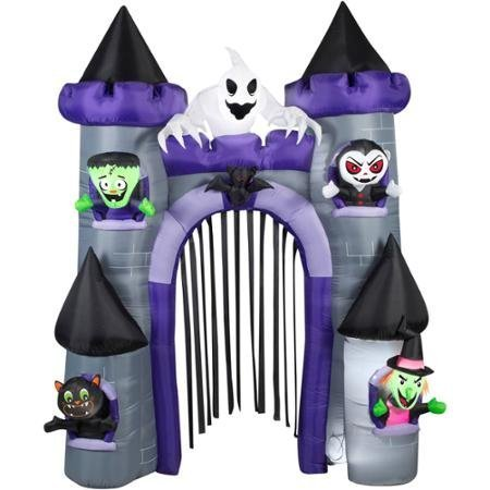 9' Tall x 7' Wide Haunted Archway Castle Halloween Airblown Inflatable by GEMMY