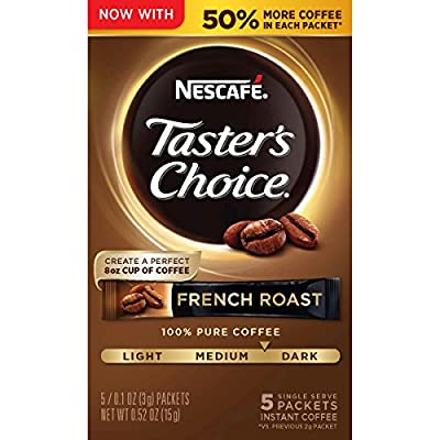 Nescafe Taster's Choice Instant Coffee, French Roast (Pack of 12)