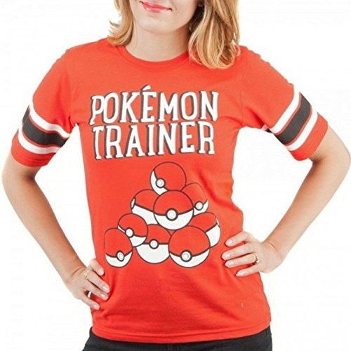 Pokemon Trainer Pokeball Womens Hockey Shirt (Large)