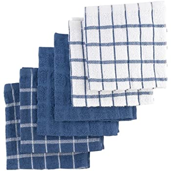 Amazon.com: Kitchen Towels Dish Cloth (12 Pack) Machine Washable ...