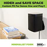 HIDEit Sonos One/Play:1 Mount- Wall Mount for Sonos One or Play:1 - Made in The USA