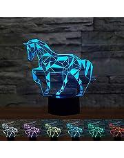 Coolzon Led-nachtkastlampje voor kinderen, usb-opladen, sfeerlicht, 7 kleuren naar keuze, voor mannen, gaming-accessoires