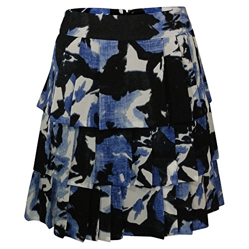 Floral Ruffle Skirt (Kenneth Cole Tiered Ruffle Floral Skirt (Blue Multi))