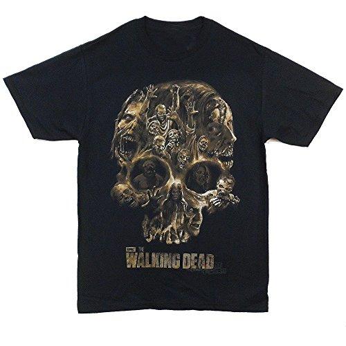 The Walking Dead Walker Skull Adult Black T-shirt 3XL