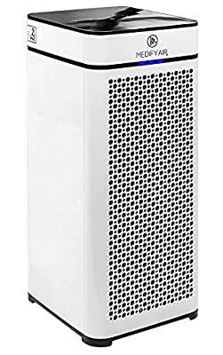 Medify MA-40 Medical Grade Filtration H13 True HEPA for 800 Sq. Ft. Air Purifier, 99.97% Removal with Particle Sensor and Modern Design.