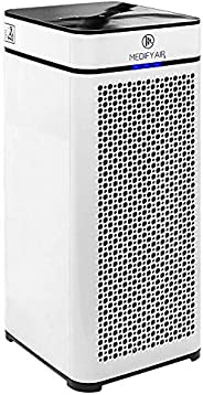 Medify Air MA-40 Medical Grade Filtration H13 True HEPA for 800 Sq. Ft. Air Purifier, 99.97% removal with Particle Sensor and Modern Design - White