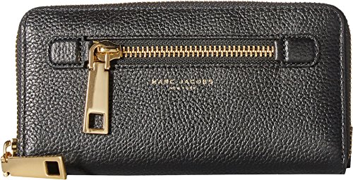 Marc Jacobs Women's Gotham Continental Wallet Black/Gold One Size by Marc Jacobs