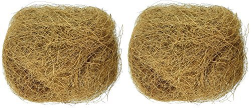 Pet Products Bird (Prevue Pet Products BPV105 Sterilized Natural Coconut Fiber for Bird Nest (2 Pack))