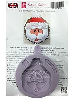 Karen Davies - Papá Noel Cupcake Top Por Alice - Silicona Helado Molde para Tarta Decoración