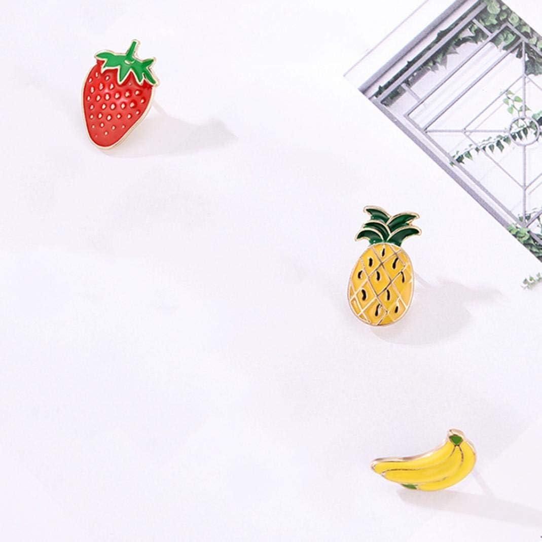 mehrfarbig Kragen Cartoon Banane Rucks/äcke Emaille-Anstecknadel f/ür Jacken Kleidung Ananas 3 St/ück//Set Schmuck Emaille Brosche