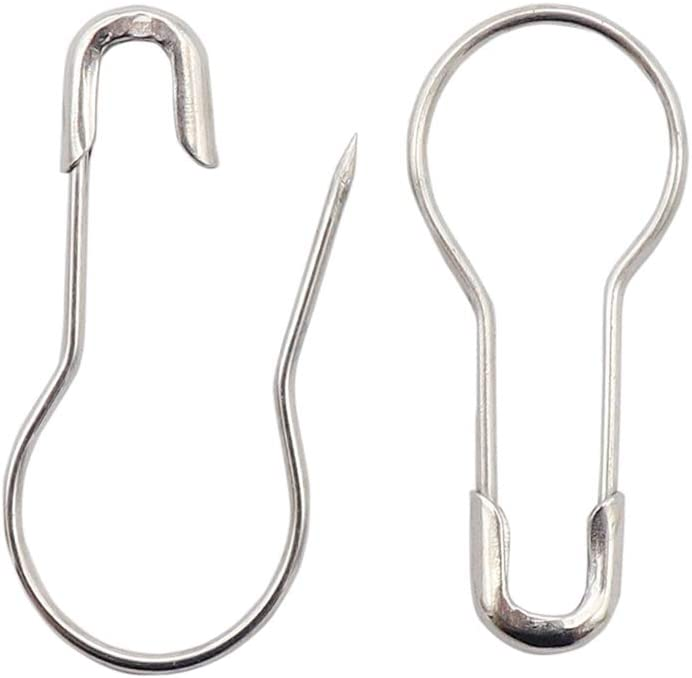 Calabash Pins for Knitting Stitch Markers DIY Clothing Craft Making Coolty 750PCS Bulb Safety Pins Metal Gourd Pins 15 Colours