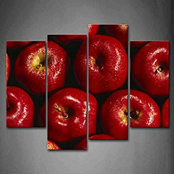 Red Apple With Water Drop Wall Art Painting Pictures Print On Canvas Food The Picture For Home Modern Decoration