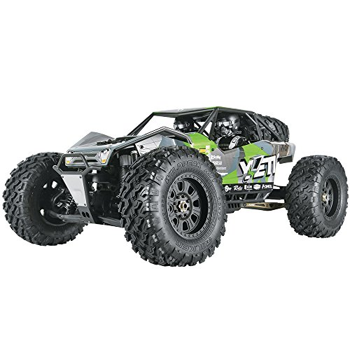 Buggy 4wd Electric Kit (Axial Yeti XL 4WD RC Rock Racer Monster Buggy Unassembled Off-Road 4x4 Electric Crawler, 1/8 Scale Kit)