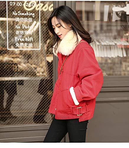 Cheveux Manteau Courte Avec Femme Épais Grande Denim D'hiver Taille Et En Velours Atr Coton Section À Gros A Col qdSaqA
