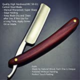 Straight Razor Natural Wood Scale Handmade