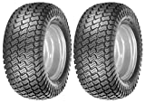 Oregon Pair of 4 Ply Lawn Mower Garden Turf Master Tread Tires for Tractors 15-6.00-6, 15x6.00x6