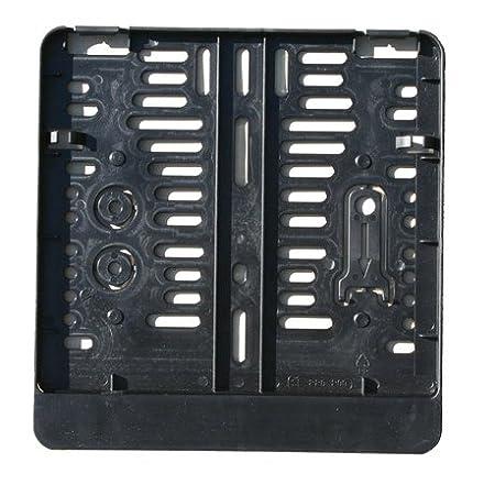 Kennzeichenverst/ärker 220 x 200 mm Kennzeichenbefestigung aus Kunststoff f/ür Motorrad schwarz Kennzeichenhalter