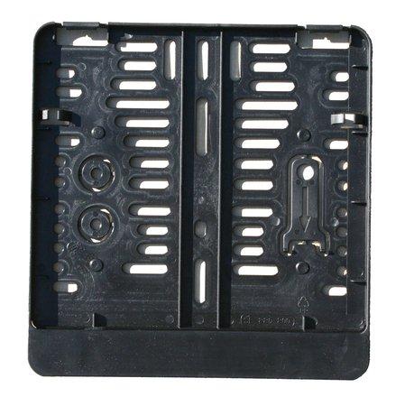 schwarz Kennzeichenbefestigung aus Kunststoff f/ür Motorrad Kennzeichenverst/ärker 220 x 200 mm Kennzeichenhalter