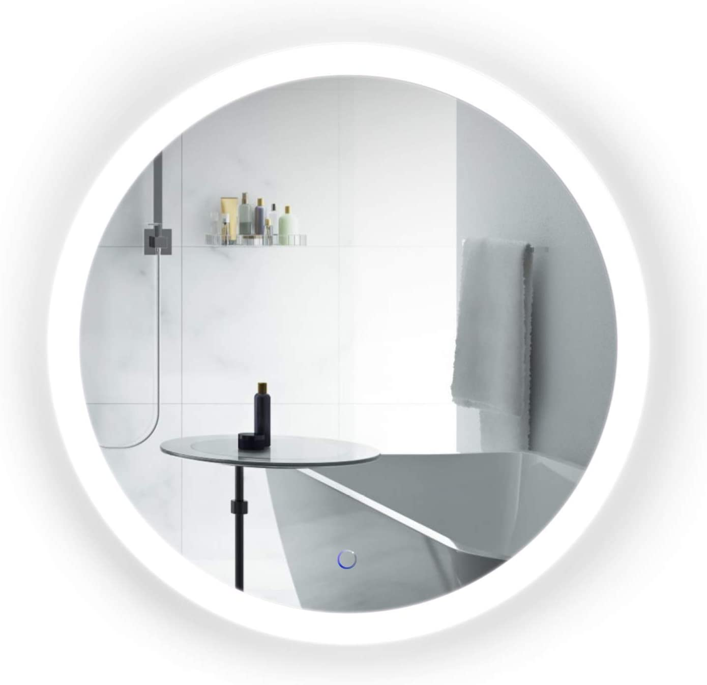 Krugg LED Bathroom Mirror with Defogger Dimmer 30