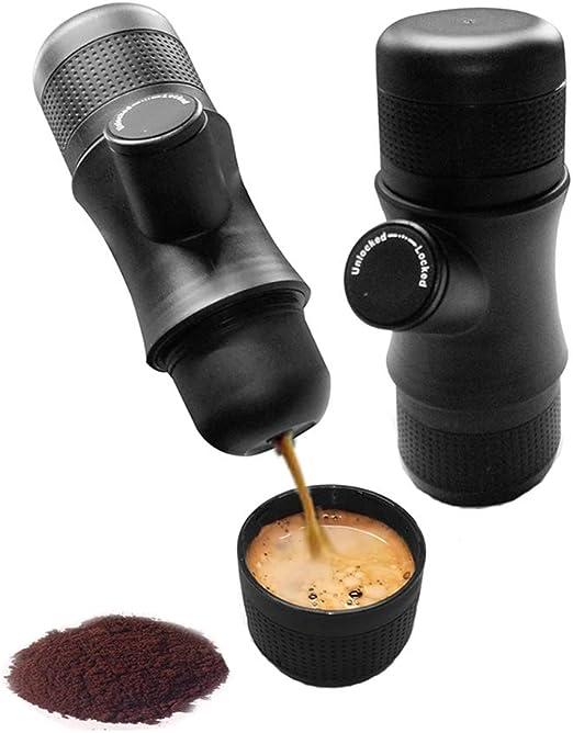 YA&NG Cafetera Espresso portátil, Minipresso prensado a Mano ...