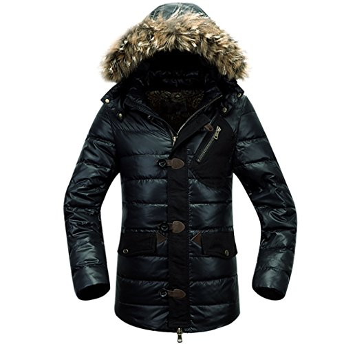 winter long black in coat XXL a The hooded HHY man RxwX5q