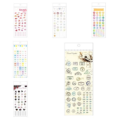 new 6 sheets 2018 calendars stickers index tabs stickers self