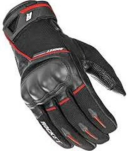 Joe Rocket Men's Super Moto Motorcycle Gloves (Black/Red, Small)