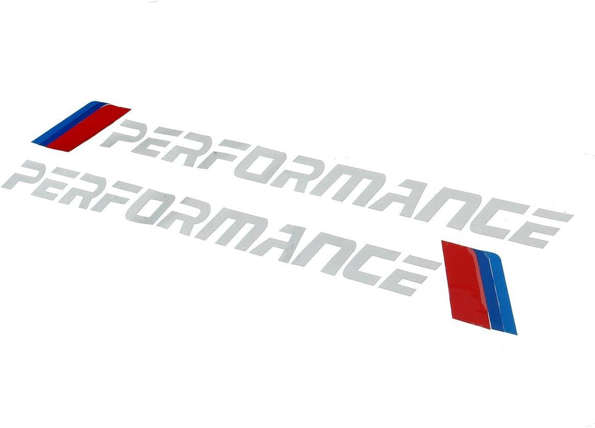 Alamor 2Pcs Voiture Pare-Chocs Avant D/écalcomanies Voiture Autocollants D/écoration Pour Bmw E90 E46 E39 E60 F30 F10 F34 X3 X4 X5 E7 Blanc