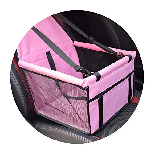 mindcup Travel Dog Car Seat Cover Folding Hammock Pet Carriers Bag Carrying for Cats Dogs transportin perro,Pink,40x30x25cm,China