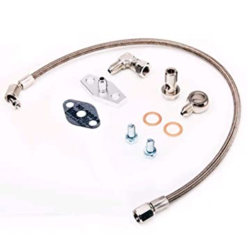 Kinugawa Turbo Oil Feed Line Kit Volvo740 760 940 w/Garrett T3T4 & T03B T04B