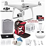 DJI Phantom 4 Pro Quadcopter (CP.PT.000488) w/ Soft Backpack Bundle: Includes 2 Phantom 4 Batteries, Shockproof Backpack, SanDisk 32GB Ultra MicroSD Card and more...