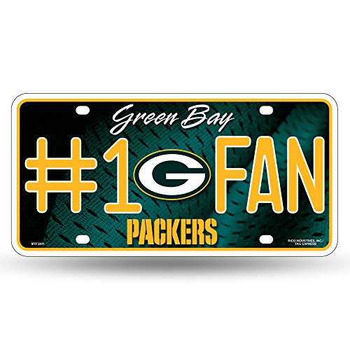 Green Bay Packers Items - NFL Green Bay Packers #1 Fan Metal License Plate Tag