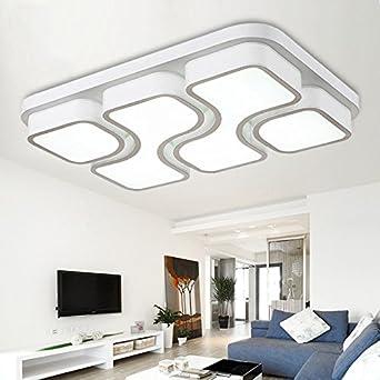 ETiME 45W Design LED Deckenlampe Kaltweiss Deckenleuchte 64x43CM ...