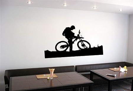 LovelyHomeWJ Pegatinas de Pared Arte Mural MTB Bicicleta Y El ...
