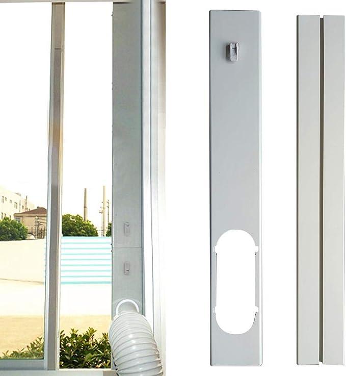 Magent - Placa de sellado universal para ventana, kit de sellado de ventana para aire acondicionado portátil, fácil de instalar, longitud ajustable: Amazon.es: Hogar