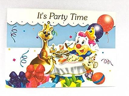 Amazon Com Circus Clown Carnival Birthday Invitations 12 Count