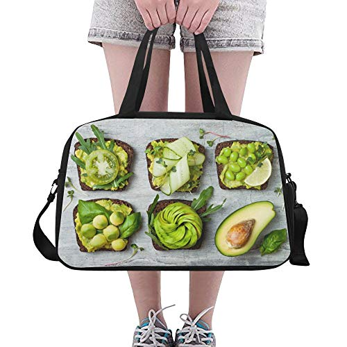 Fragrant And Attractive Avocado Large Yoga Gym Totes Fitness Handbags Travel Duffel Bags Shoulder Strap Shoe Pouch For Exercise Sport Luggage For Girl Men Womens Outdoor]()