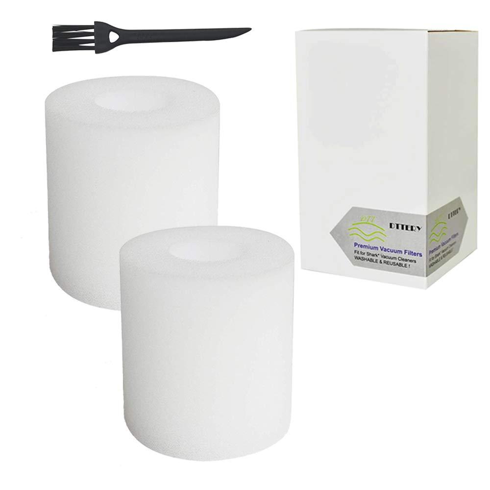 2 Pack Shark Flex DuoClean Corded Ultra-Light Vacuum HV390 HV391 HV392 Filter Set 2 Foam Filters Replacement Part # 461FFJV390