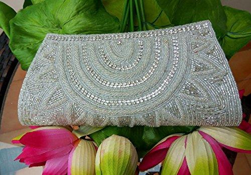 La Beaded Regale Handbag (Elegant beaded wallet #Bridal Clutch # Indian wedding bag # Bridal evening party purse # hand beaded art deco)