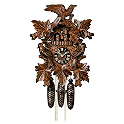Black Forest German Cuckoo Clock with Music and Three Birds