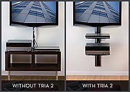 OmniMount Tria 2 Shelf Wall System, Black