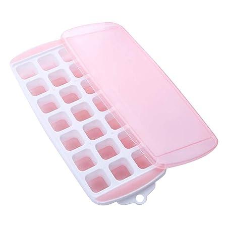 Ulofpc 1 pieza 21 Rejilla Molde de hielo Cubo de hielo de silicona ...