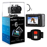 AKASO Brave 6 4K 20MP WiFi Action Camera Voice Control EIS 30m Underwater Waterproof Camera Remote Control 6X Zoom Underwater Camcorder with 2 Batteries and Helmet Accessories Kit: more info