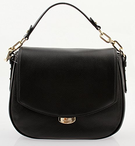 dc1f135ddce3 Amazon.com  Kate Spade Mulberry Street Alecia Pebbled Black Leather  Shoulder Bag