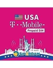 USA SIM-kaart T-Mobile 21 dagen Prepaid SIM-kaart Onbeperkt 4G internetgegevens, oproepen, teksten T-Mobile netwerkdekking in Verenigde Staten landelijk