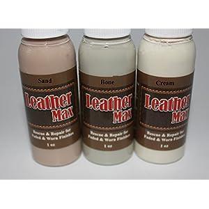 Leather Repair Kit / Leather Color Kit / Cleaner / Color Restorer / Sponge Applicator (Leather Repair) (Vinyl Repair) (Leather Dye) (Bone)