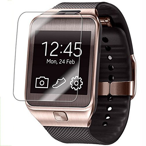 DZ09 Tempered Glass Screen Protective Films, 9H Hardness Glass Screen Protector Film for DZ09 Wristwatch Automatic Adsorption Tempered Glass Screen Film for 1.56 Smart Watch +Wipes